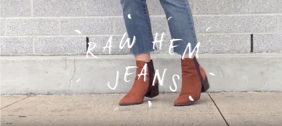 Always Abby: Raw Hem JeansDIY